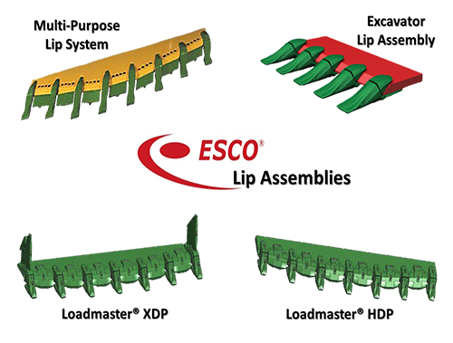 esco lip assemblies